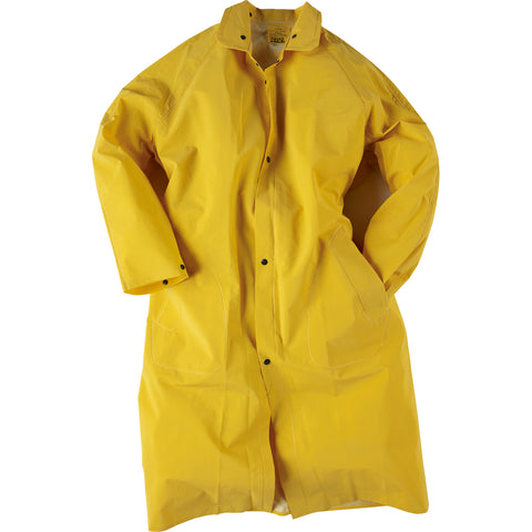 Neese Economy Rain Coat Yellow PVC On Poly Rain Economy