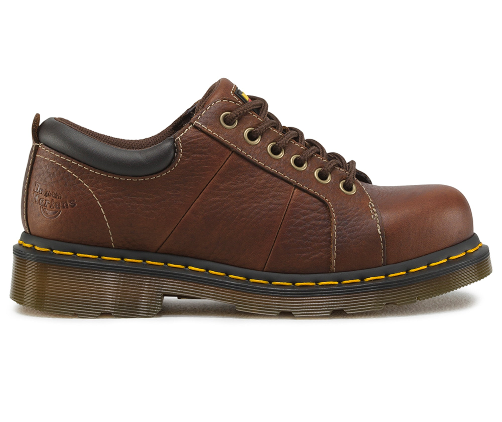 ... Dr Martens Teak Womens Mila ST Bear Leather Work Shoes ...