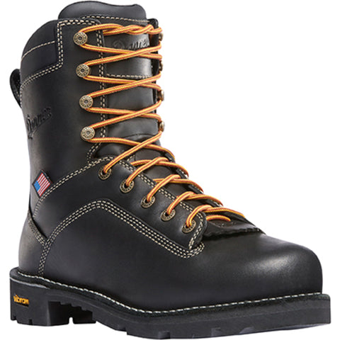 Danner Quarry USA 8in AT Mens Black Leather Goretex Work Boots 17311