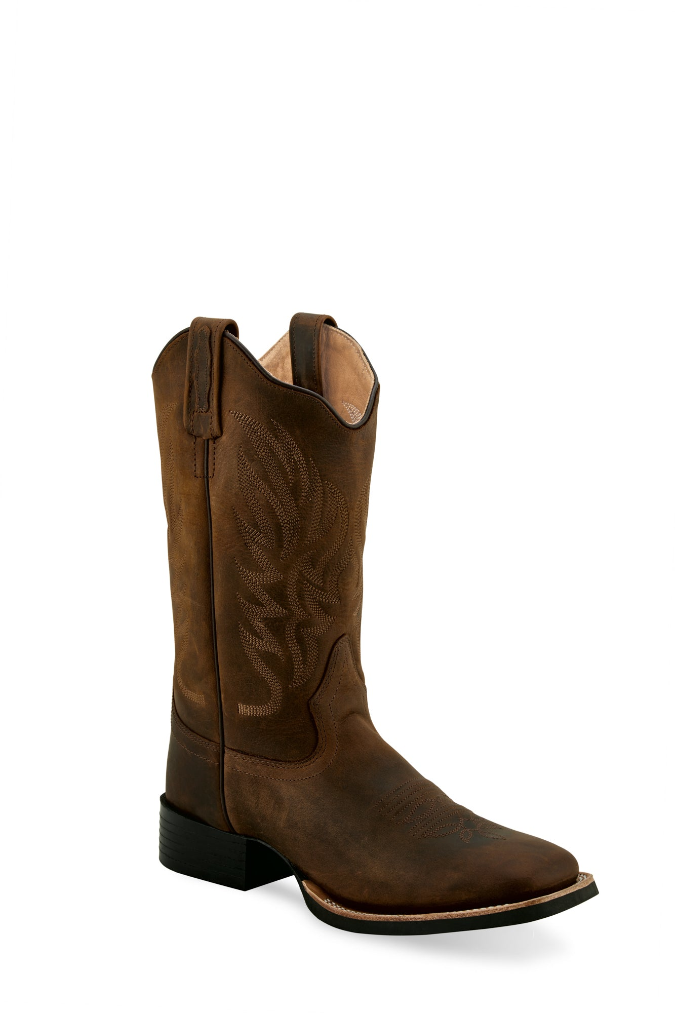 Old West Brown Womens Leather Broad