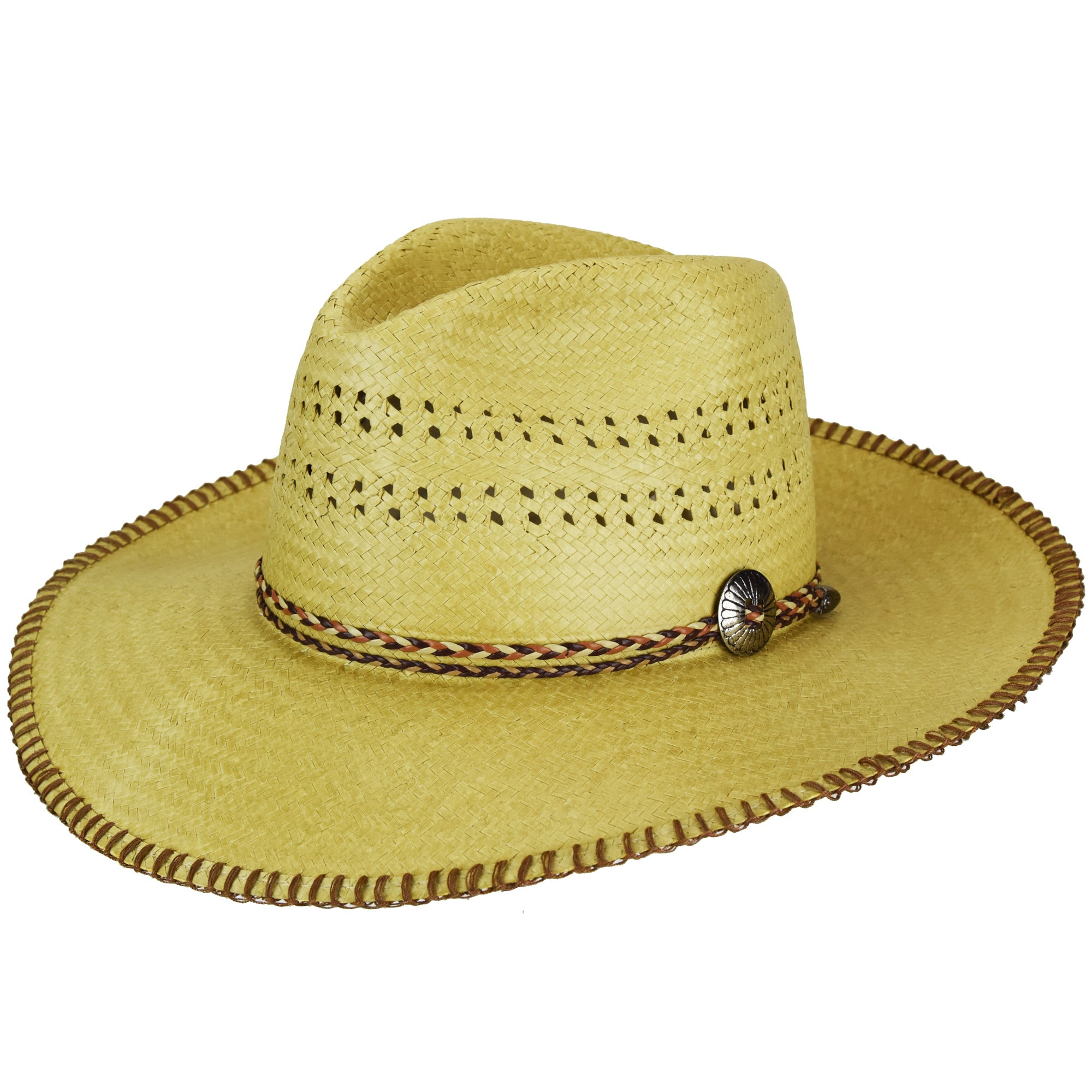 11311d79127 Renegade Crow Natural Mens Straw Western Hat Large Concho – The ...