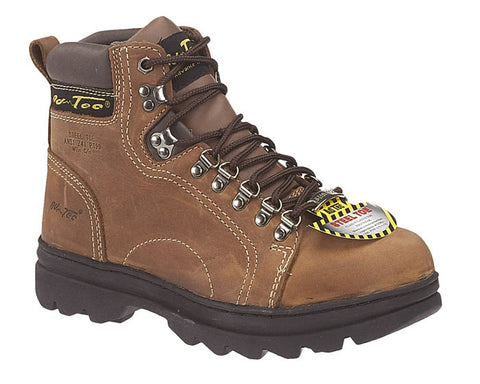 AdTec Mens Brown 6in Steel Toe Hiker Crazy Horse Leather