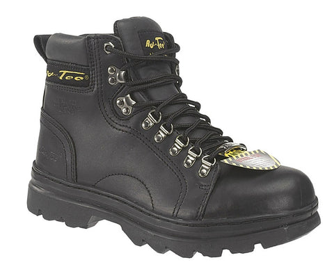 AdTec Mens Black 6in Steel Toe Hiker Leather Work