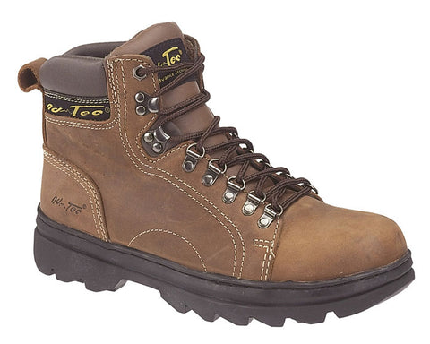 AdTec Mens Brown 6in Hiker Boot Crazy Horse Leather