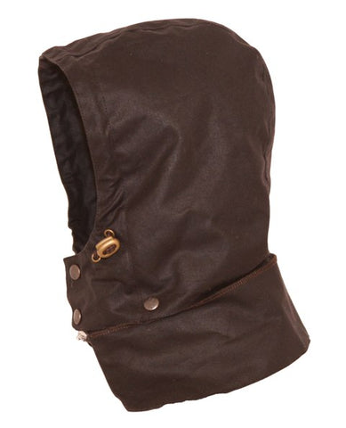 Outback Trading Co. Oilskin Hood Mens Brown 100% Cotton Oilskin Waterproof