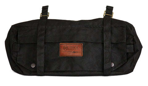Outback Trading Co. Cantle Bag Mens Brown 100% Cotton Oilskin WPF Saddle