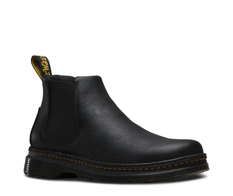 Dr Martens Black Mens Oakford Grizzy Leather Casual Boots