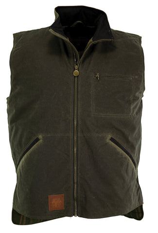 Outback Trading Co. Sawbuck Vest Mens Sage 100% Cotton 12 Oz Oilskin