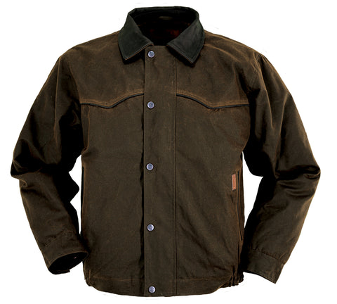 Outback Trading Co. Trailblazer Jacket Mens Bronze 100% Cotton 12 Oz Oilskin
