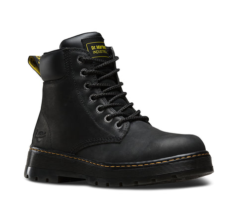 Dr Martens Black Unisex Winch Ns Wyoming Leather Work Boots