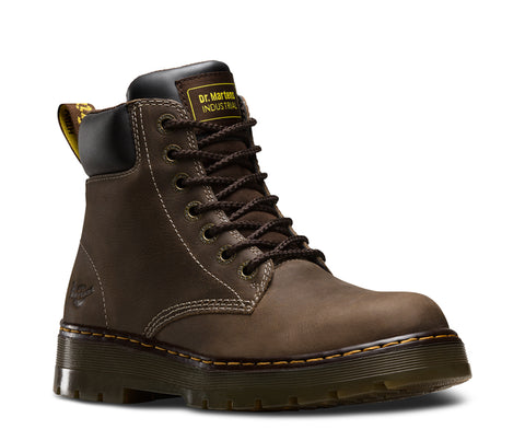 Dr Martens Dark Brown Wyoming Mens Service Winch NS 7 Eye Boots