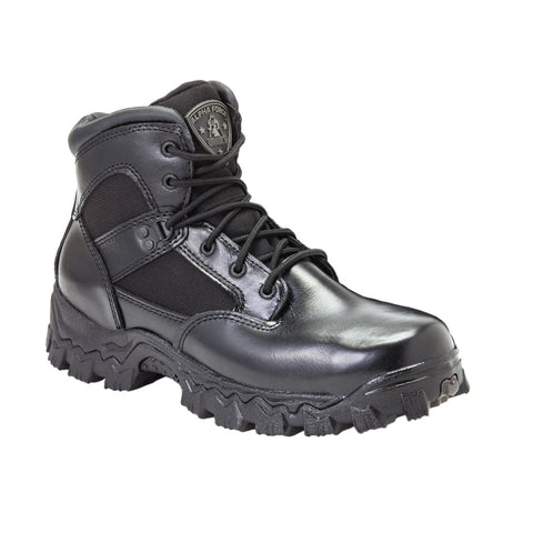 Rocky Mens Black Leather 6in 1000 Denier AlphaForce Waterproof Duty Boots