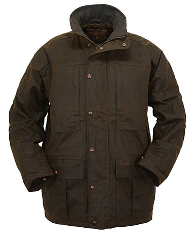 Outback Trading Co Deer Hunter Mens Jacket Bronze Oilskin WP
