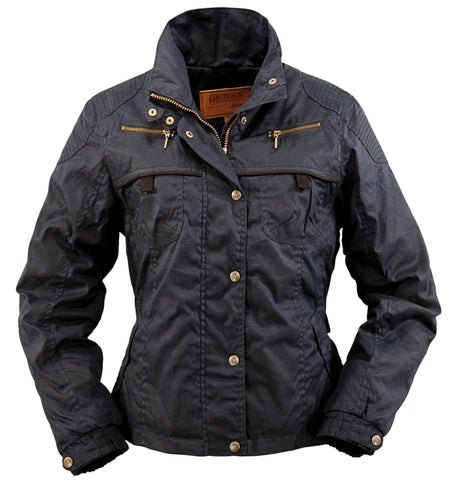 Outback Trading Co Sheila's Delight Womens Jacket Navy Oilskin
