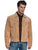 Scully Leather Mens Western Boar Suede Fringe Jacket Bourbon