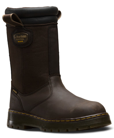 Dr Martens Dark Brown Unisex Corbel Wp ST Republic Leather Work Boots