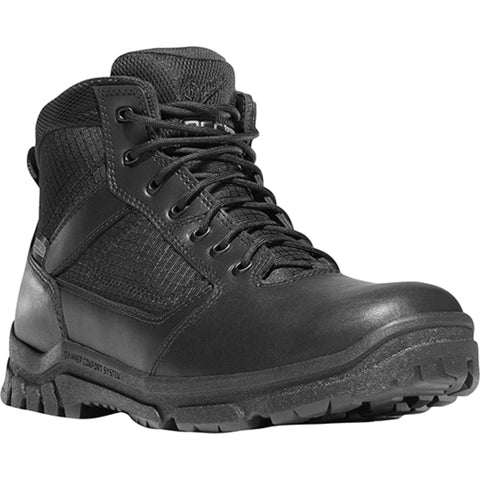 Danner Lookout 5.5in Mens Black Leather Waterproof Work Boots 23820
