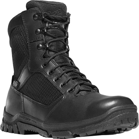 Danner Lookout Side-Zip 8in Mens Black Leather Work Boots 23824