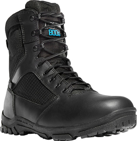 Danner Lookout 800G 8in Mens Black Nylon/Leather WP Uniform Boots