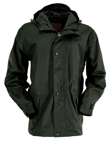 Outback Trading Co. Pak-A-Roo Parka Mens Jacket Olive Waterproof Breathable