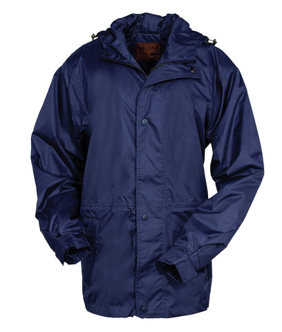 Outback Trading Co. Pak-A-Roo Parka Mens Jacket Navy Waterproof Breathable
