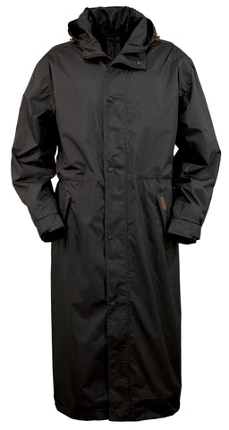 Outback Trading Co. Pak-A-Roo Duster Mens Coat Black Waterproof Windproof
