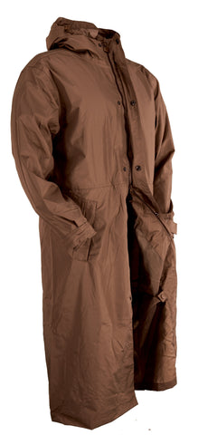 Outback Trading Co Pak-A-Roo Duster Unisex Brown Polyester Waterproof Hooded
