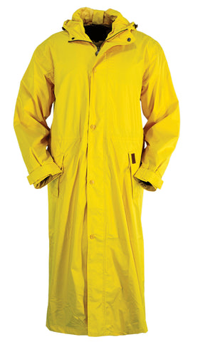 Outback Trading Co. Pak-A-Roo Duster Mens Coat Gold Waterproof Windproof