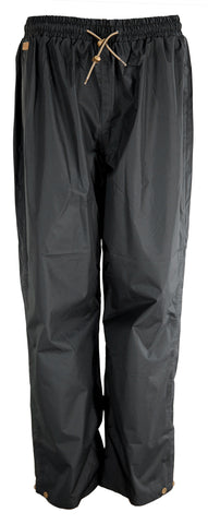 Outback Trading Co. Packable Overpant Mens Pants Black Polyester Waterproof