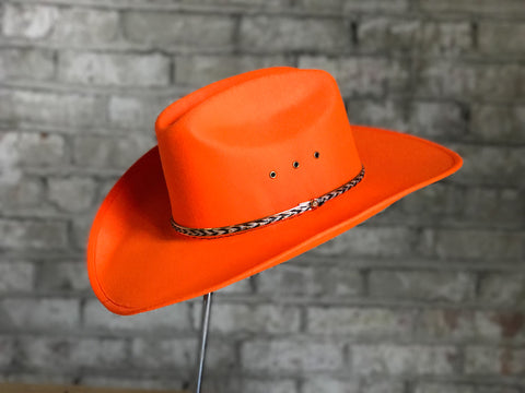 Rockmount Mens Orange Felt Sierra Cowboy Hat
