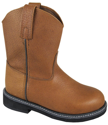 Smoky Mountain Boots Toddler Boys Jackson Brown Leather Cowboy Welly