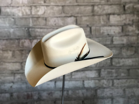 Rockmount Mens White Straw Vented Cowboy Hat