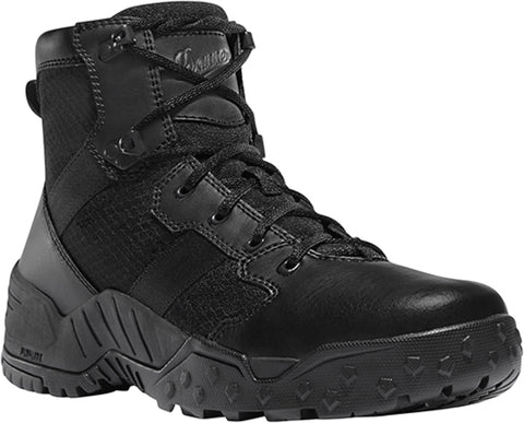 Danner Scorch Side-Zip Mens Black Faux Leather Hot 6in Uniform Boots