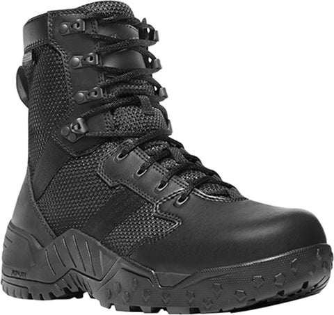 Danner Scorch Side-Zip Mens Black Textile 8in WP Military Boots