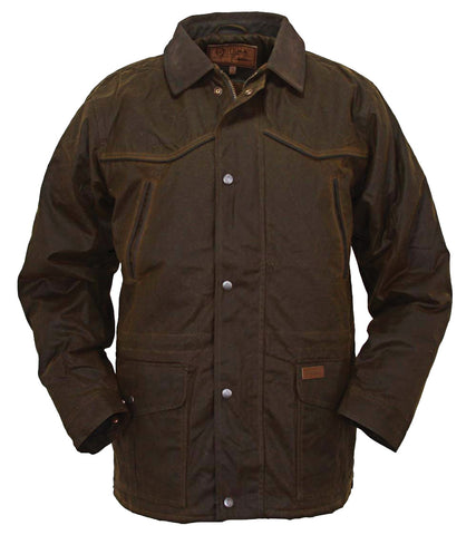 Outback Trading Co Pathfinder Jacket Mens Bronze 100% Cotton 12 Oz Oilskin
