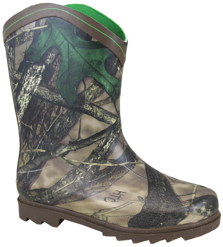 Smoky Mountain Boots Youth Boys Muddy River Camo Rubber Chore