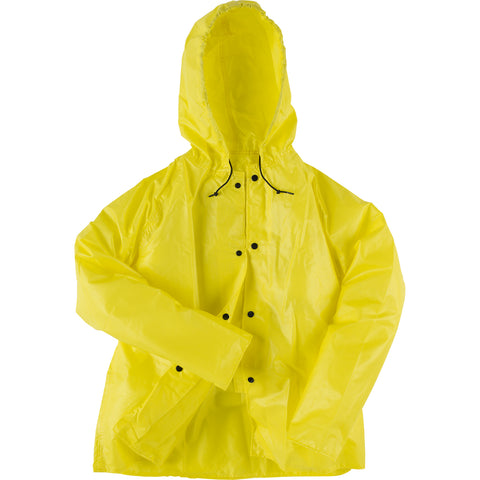 Neese Jacket with Attached Hood Yellow PU on Nylon Tuff Wear