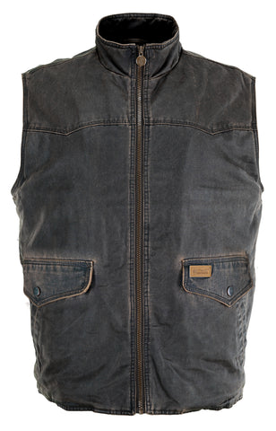 Outback Trading Co. Landsman Vest Mens Brown Cotton Blend Washed Vintage