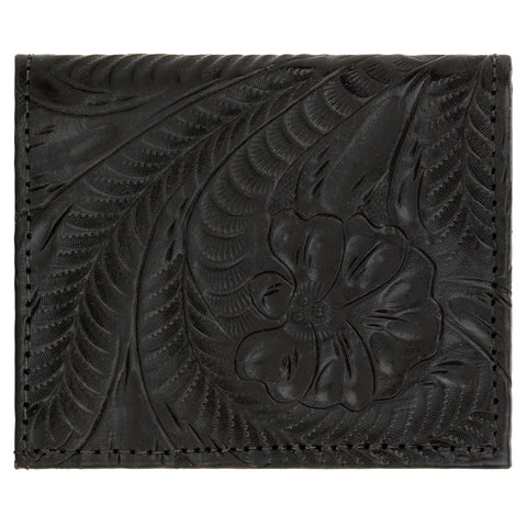 American West Boyfriend Wallets Bifold Black Leather