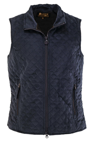 Outback Trading Co. Grand Prix M/S Vest Ladies Navy Microsuede DWR Finish