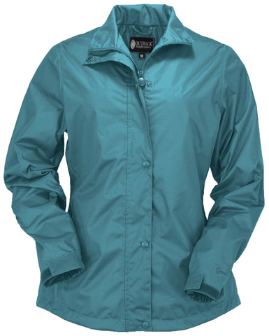 Outback Trading Co Harper Packable Womens Jacket Dusty Blue Polyester