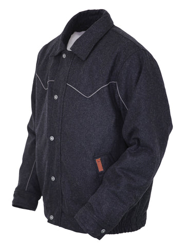 Outback Trading Co Mason Mens Jacket Black Wool Blend