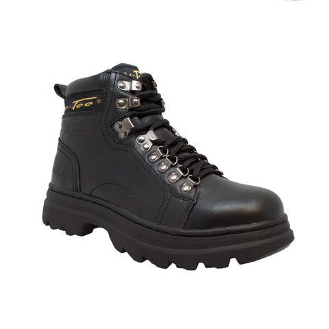 AdTec Womens Black 6in Steel Toe Work Boot Leather Oil Resistant