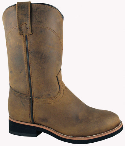 Smoky Mountain Boots Youth Boys Muskogee Brown Oiled Leather Roper