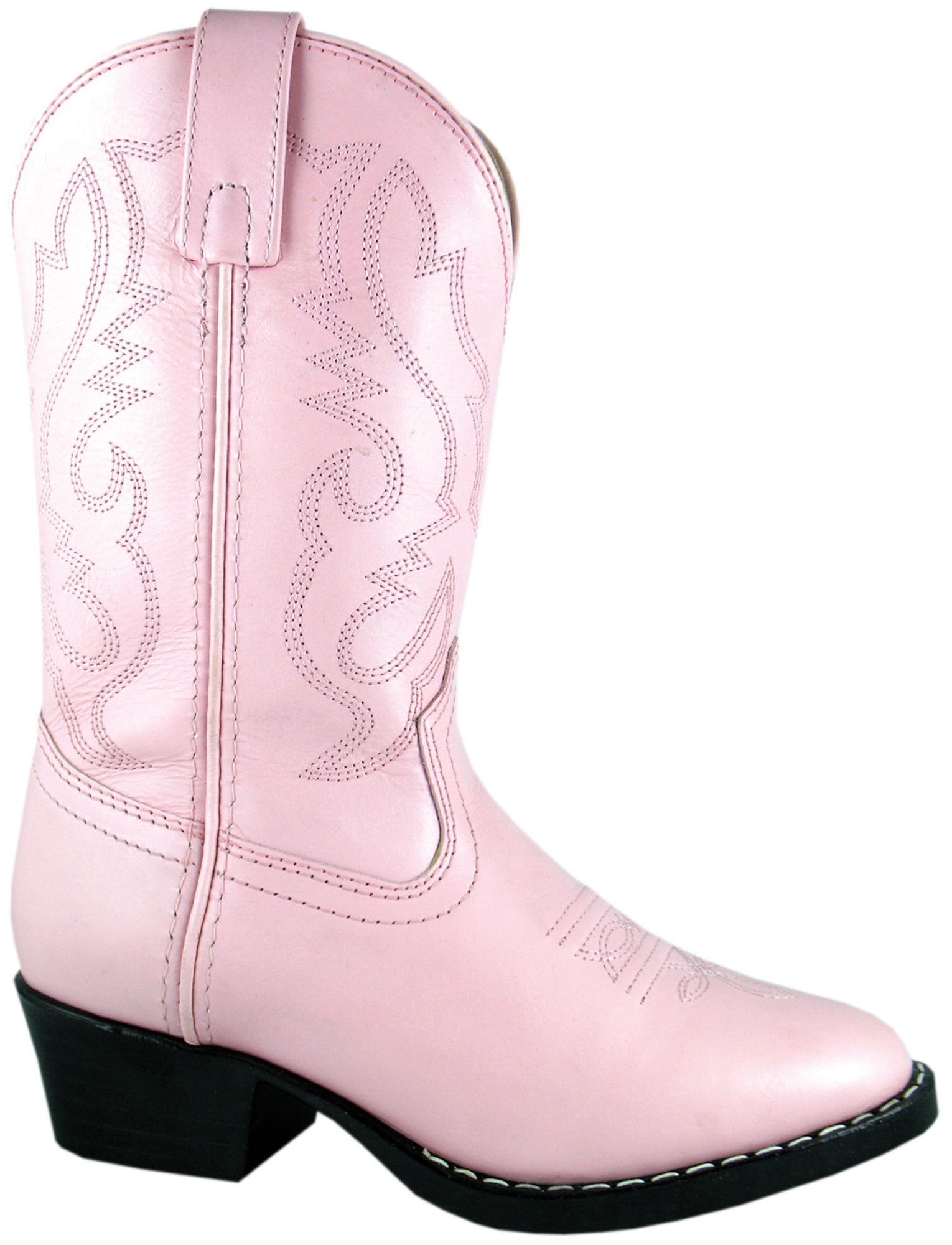 Smoky Mountain Kids Girl Denver Western Cowboy Boots Stitched Leather Brown//Pink