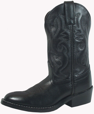 Smoky Mountain Boots Youth Boys Denver Black Leather Western