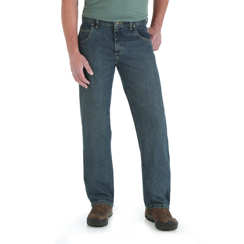 Wrangler Mens Mediterranean 100% Cotton Relaxed Jeans