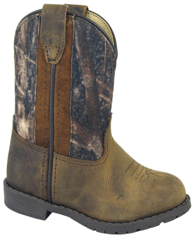 Smoky Mountain Boots Toddler Boys Hopalong Brown/Camo Distress Leather