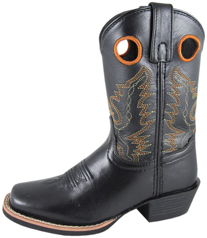 Smoky Mountain Boots Youth Boys Mesa Black Leather Square Toe