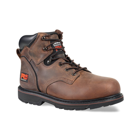 Timberland Pro 6In Pit Boss Mens Gaucho Leather Work Boots Steel Toe